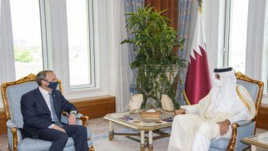 صورة أمير قطر ووزير خارجية بريطانيا يبحثان تطورات أفغانستان