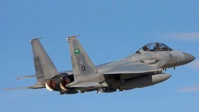صورة أول رد عسكري من التحالف على استهداف مطار أبها بطائرات مسيرة مفخخة