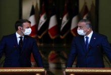 صورة الرئيس الفرنسي ماكرون يصل إلى بغداد لحضور مؤتمر دول جوار العراق