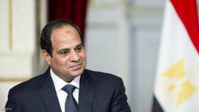 صورة السيسي يستقبل وزير الدفاع اليمني
