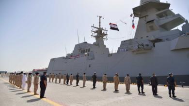 صورة بدء المناورات البحرية المشتركة زايد-3 بين الإمارات ومصر