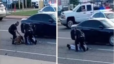 صورة شاهد شرطيون أمريكيون يسمحون لكلب بمهاجمة شخص من أصول أفريقية وعقره عدة مرات