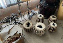 صورة شاهد: طالبان تحطم الآلات الموسيقية في استوديوهات التسجيل في كابول