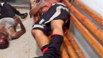 صورة شاهد قتلى وجرحى في استهداف قاعدة العند العسكرية باليمن