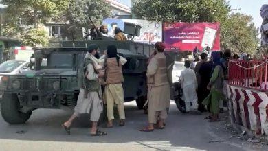 صورة شاهد ماذا وضعت طالبان على جدار السفارة الأمريكية في كابل؟