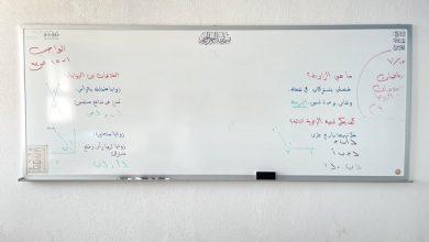 صورة شاهد: معلم يتفاجأ بما رآه على سبورة الفصل في أول يوم دراسي ..ويعلق : كأن الدنيا وقفت