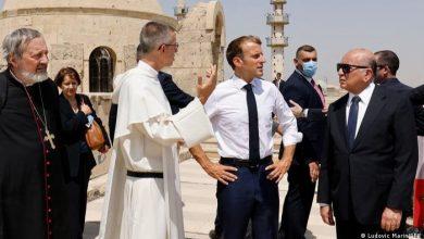 صورة من الموصل.. ماكرون يتعهد بدعم المسيحيين في العراق