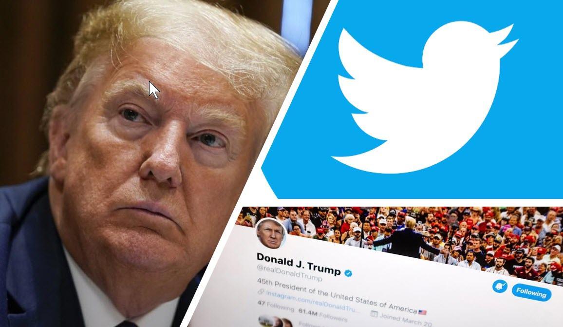 """صورة هبوط سهم """"تويتر"""" بعد إيقاف حساب ترمب"""