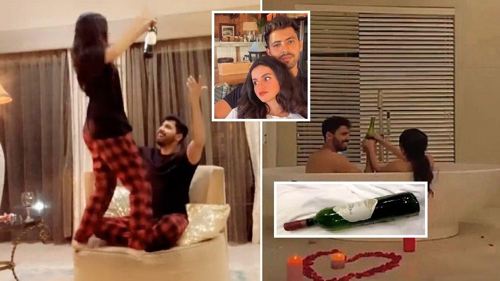 صورة سعودية تثير جدلا كبيرا بسبب صور وفيديوهات صحبة زوجها عاريين في حوض الاستحمام