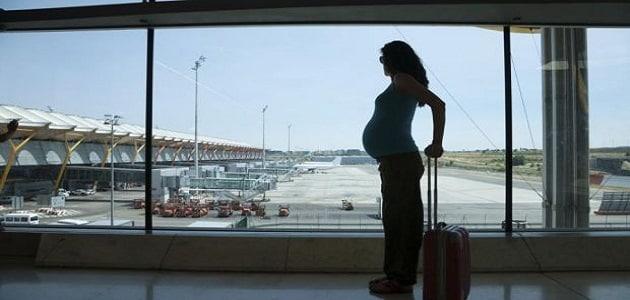 صورة هل يوجد ضرر من سفر الحامل