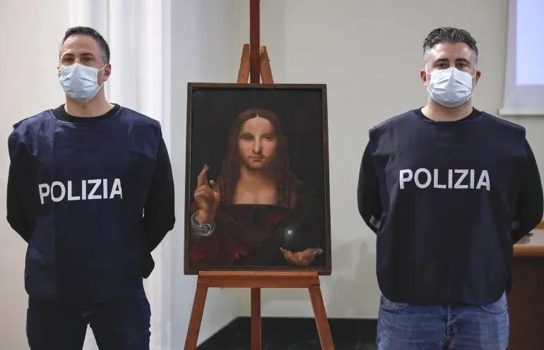 صورة سرقة لوحة لدافنشي من إيطاليا