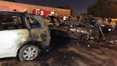 صورة هجوم صاروخي على السفارة الأمريكية ببغداد