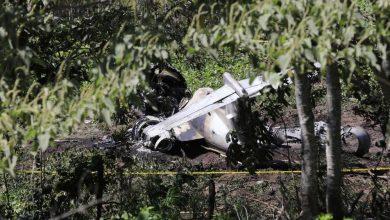 صورة قتلى في حادث تحطم طائرة عسكرية مكسيكية