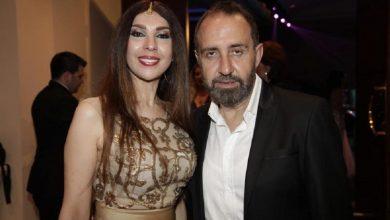 الراقة اللبنانية ناريمان عبود مع زوجها الملحن وسام الأمير