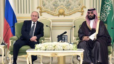 ولي العهد السعودي محمد بن سلمان مع الرئيس الروسي فلادمير بوتين