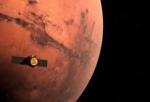 """صورة مسبار الأمل الإماراتي يتواصل مع شبكة فضاء تابعة لـ""""ناسا"""""""