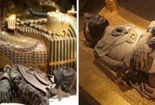 صورة العثور على مومياء بلسان ذهب بمصر