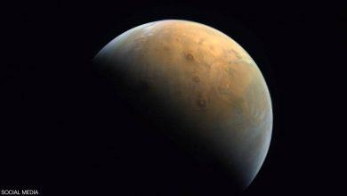 """صورة مسبار """"الأمل"""" يرسل أول صورة للمريخ من ارتفاع 25 ألف كيلومتر"""