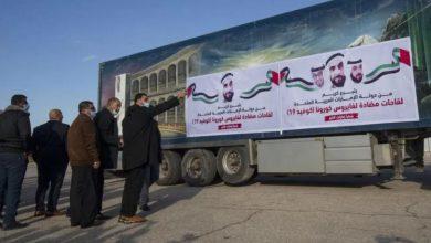 """صورة 20 ألف جرعة لقاح """"كورونا"""" من الإمارات لغزة"""