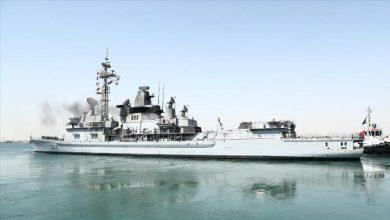 صورة قطر تدشن ثاني سفنها الحربية في إيطاليا
