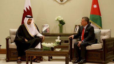 صورة أمير قطر يبدي حرصه على دعم وتعزيز الروابط وتمتيبن العلاقات مع الأردن