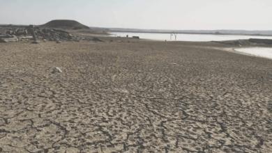 صورة جفاف مياه الفرات وحياة الملايين من السوريين في خطر