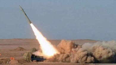صورة التحالف يعترض صاروخ باليستي في سماء نجران