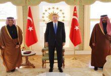 صورة أردوغان يستقبل وزير الخارجية القطري باسطنبول