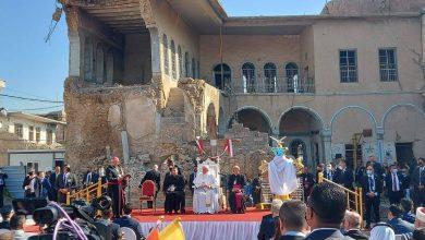 صورة البابا يصل الموصل في زيارة تاريخية