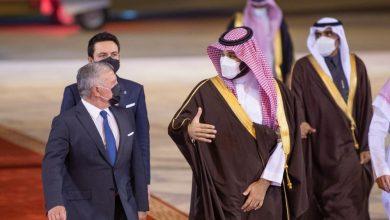 صورة استقبال ملك الأردن في الرياض