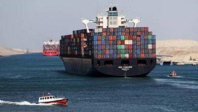 صورة شاهد: صور فضائية للسفينة العالقة في قناة السويس