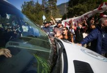 صورة الرئيس الأرجنتيني في مرمى المتظاهرين