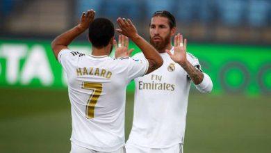 صورة مران ريال مدريد يحسم موقف راموس وهازارد أمام إلتشي