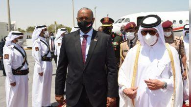 """صورة """"البرهان"""" يزور الدوحه ويلتقي وزراء قطريين"""
