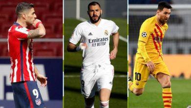 صورة المباريات المتبقية لبرشلونة وريال مدريد وأتلتيكو