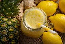 صورة عصير الليمون بالأناناس