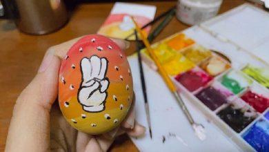 صورة بيضة عيد الفصح تواجه الانقلاب بميانمار