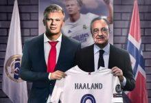 صورة الحقيقة الكاملة للقاء رئيس ريال مدريد مع والد ووكيل هالاند