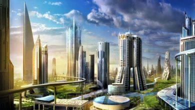 صورة مدينة من الخيال … مدينة المستقبل الحالمة …