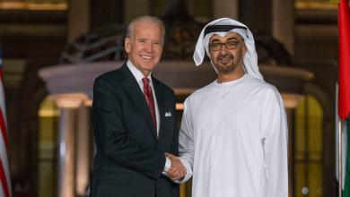 صورة بايدن يؤكد لابن زايد أهمية تطبيع العلاقات بين الإمارات وإسرائيل