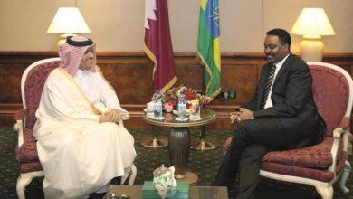 """صورة مباحثات وزيري خارجية قطر وإثيوبيا تشمل ملف """"سد النهضة"""""""