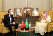 صورة وزير الخارجية التركي يزور السعودية للمرة الأولى منذ مقتل خاشقجي