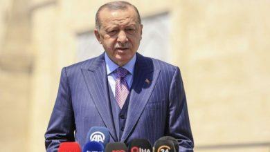 صورة أردوغان: نتطلع لاستعادة الوحدة مع الشعب المصري ونرفض الإملاءات