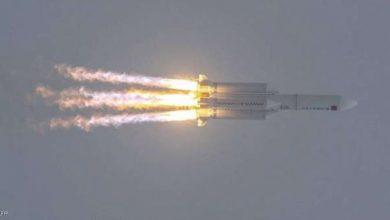 صورة اين سقط الصاروخ الصيني الخارج عن السيطرة؟