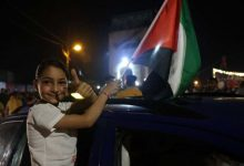 صورة احتفاء خليجي في مواقع التواصل بانتصار المقاومة الفلسطينية