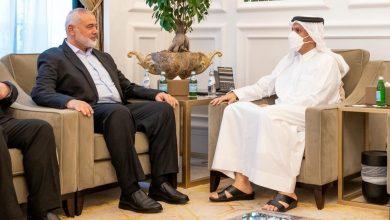 """صورة وزير خارجية قطر يدعو لوقف """"الاعتداءات الإسرائيلية الوحشية"""" على غزة"""