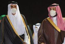 صورة بالصور: محمد بن سلمان يستقبل تميم بن حمد في السعودية
