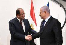 صورة نتنياهو يبحث مع رئيس المخابرات المصرية لمنع حماس من تطوير قدراتها العسكرية