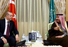 صورة الرئيس التركي والعاهل السعودي يبحثان العلاقات الثنائية بين البلدين
