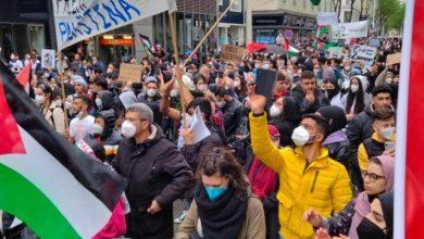 صورة مظاهرات في أوروبا تضامنًا مع القدس وغزة